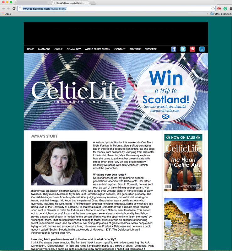 Myra's Story Interview Celtic Life International